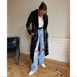 NWT Danielle Bernstein Faux-Fur Long Jacket